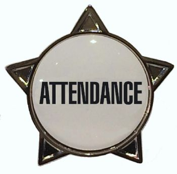 ATTENDANCE titled star badge